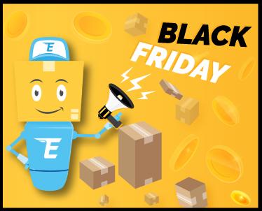 Предложение к распродажам Черной Пятницы – Закажите 5 посылок и получите скидку в 10 евро!
